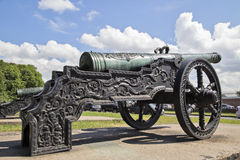 Ancient guns about the museum. In St. Petersburg Stock Image