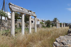 Ancient gymnasium at Kos island in Greece Royalty Free Stock Image
