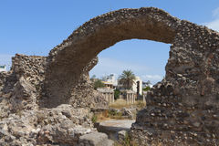 Ancient gymnasium at Kos island in Greece Royalty Free Stock Photography