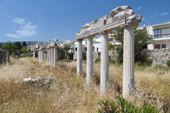 Ancient gymnasium at Kos island in Greece Stock Photo