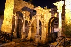 Hadrians Gate in Antalya, Turkey. Ancient Hadrians Gate in Antalya City, Turkey Royalty Free Stock Photos