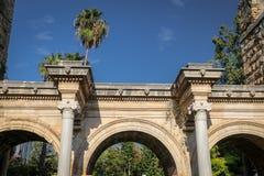 Hadrians Gate in Antalya, Turkey. Ancient Hadrians Gate in Antalya City, Turkey Royalty Free Stock Images