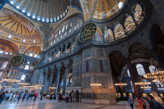 Ancient Hagia Sophia interior Stock Image