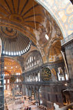 Ancient Hagia Sophia interior Stock Images