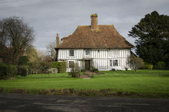 Ancient Half-Timbered Cottage Royalty Free Stock Photo