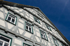 Ancient half timbered house Stock Photography