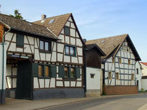 Ancient Half-Timbered House in Germany. Old Half-Timbered House in a Small Village in Germany Stock Images