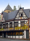 Ancient Half-Timbered House in Germany. Old Half-Timbered House in a Small Village in Germany Royalty Free Stock Photography
