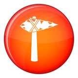 Ancient hammer icon, flat style Royalty Free Stock Image