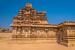 Ancient Hampi temple ruins Stock Photo