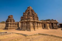 Ancient Hampi temple ruins Stock Image