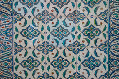 Ancient hand made Turkish - Ottoman tiles. Istambul, Turkey Stock Images