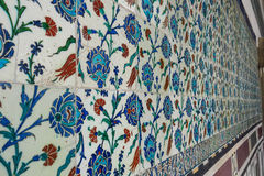 Ancient hand made Turkish - Ottoman tiles. Istambul, Turkey Royalty Free Stock Images