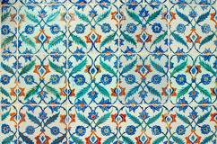 Ancient hand made Turkish - Ottoman tiles in Topkapi Palace. Tur Stock Photo