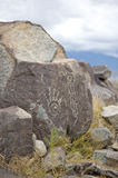 Ancient hand petroglyph. A petroglyph of a hand at Three Rivers Petroglyphs, New Mexico Stock Photos
