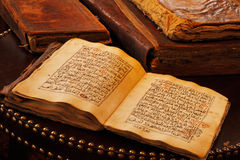 An ancient hand scripted Quran Stock Image