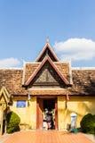 Ancient handcraft temple door . Stock Images