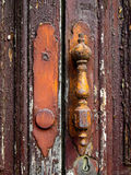 Ancient Handle. Ancient Door Handle detail texture Royalty Free Stock Photo