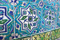 Ancient Handmade Turkish Tiles Royalty Free Stock Image