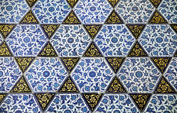 Ancient Handmade Turkish Tiles ,Topkapi Palace Stock Photos