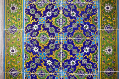 Ancient Handmade Turkish Tiles ,Topkapi Palace Royalty Free Stock Photos