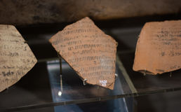Ancient handwriting Stock Image