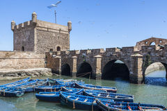 Ancient harbour in Essaouira Royalty Free Stock Photos