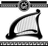 Ancient harp Stock Photos