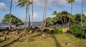 Ancient Hawaiian temple, or Heiau, Stock Images