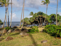 Ancient Hawaiian temple, or Heiau, Stock Photos