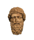 Ancient head of a bearded god, representing Zeus or Hermes Stock Photos