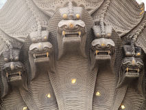 Ancient heads dragon statue Stock Photo