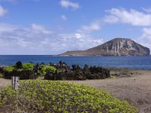Ancient Heiau Stock Photo
