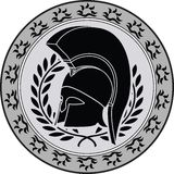 Ancient hellenic helmet Royalty Free Stock Photo