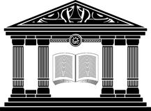 Ancient hellenic school. stencil Royalty Free Stock Image