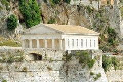 Ancient Hellenic temple, Corfu Stock Photo