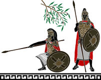 Ancient hellenic warriors Royalty Free Stock Image