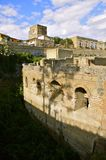 Herculaneum and Ercolano, Campania, Italy. Ancient Herculaneum and Modern day Ercolano. In Portrait Mode. Herculaneum was buried in the eruption of Mount Stock Images