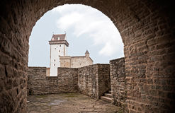 Ancient Herman castle in Narva Stock Photos