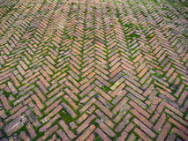 Ancient Herringbone Brickwork Royalty Free Stock Photos