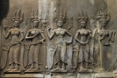 Ancient hidden Angkor Wat Stock Photography