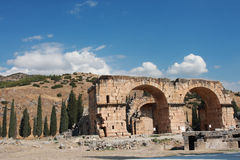 Ancient Hierapolis-Pamukkale. Turkey. Stock Images