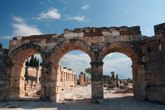 Ancient Hierapolis-Pamukkale. Turkey. Royalty Free Stock Photo