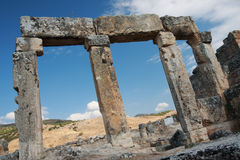 Ancient Hierapolis-Pamukkale. Turkey. Stock Image