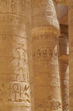 Ancient Hieroglyphs Karnak Temple column Stock Photo