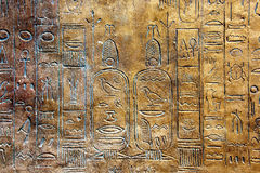 Ancient hieroglyphs. Royalty Free Stock Image