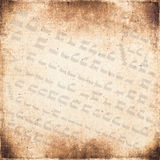 Of the ancient hieroglyphs on vintage textured fabric background Royalty Free Stock Images