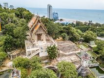 Ancient hill temple in thailand royalty free stock images