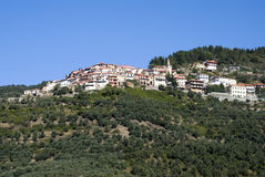 Ancient hillside village of Italy Royalty Free Stock Photos
