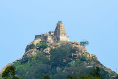 Ancient hilltop temple in Southern India. royalty free stock photography